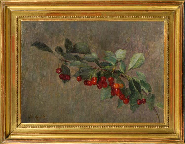CHARLES JEAN AGARD Still life of a cherry branch