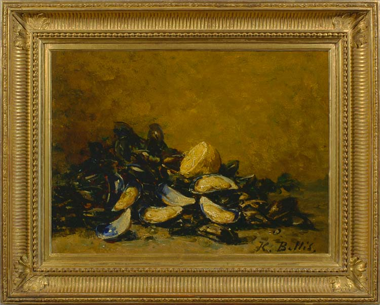 HUBERT BELLIS Still life with mussels
