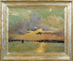ROBERT BOUDRY Croucher de soleil sur l'estuaire