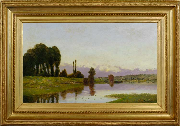 HENRI JACQUES DELPY Evening on the river