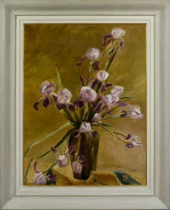 ALICE HALKETT  A vase of iris