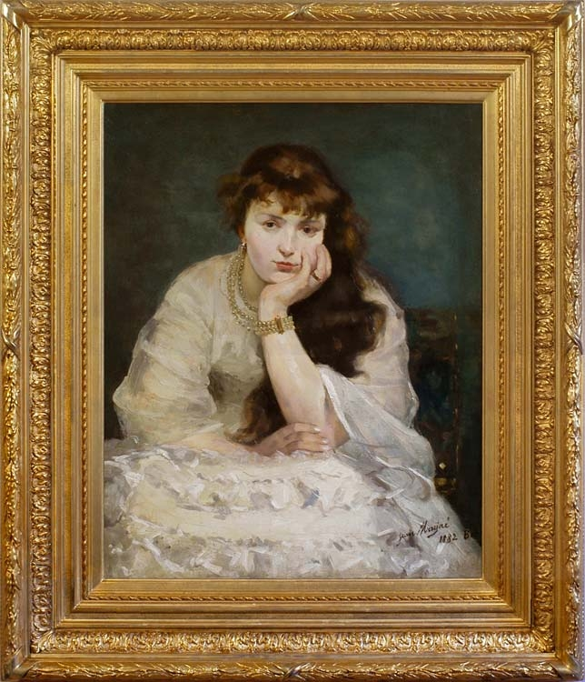 JEAN MAYNE  Girl with a set of pearls