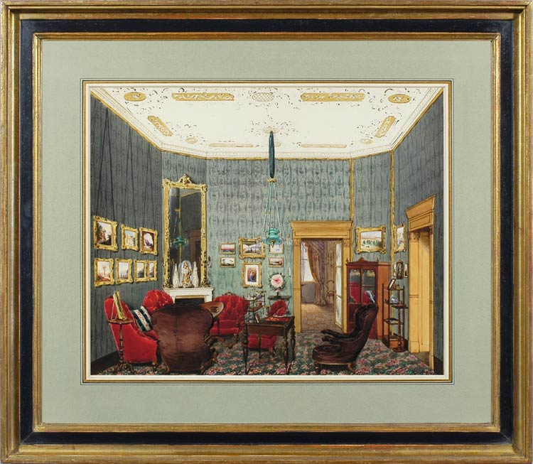 FRANZ PITNER A bourgeois drawing-room